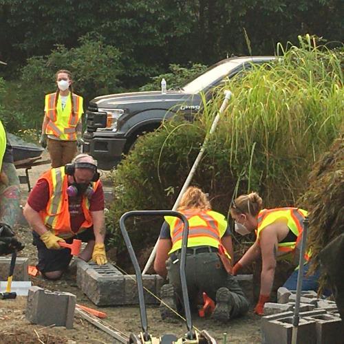 VIU Horticulture, Vancouver Island University, Students, Horticulture, Construction, Slegg Building Materials, Allan Block