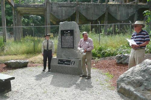 Miners' monument, Morden historic park, Nanaimo park, VIU Horticulture, Vancouver Island University
