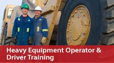 Heavy Equipment Operator & Driver Training